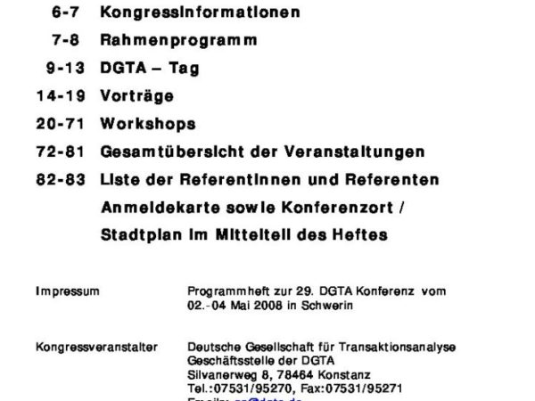 29. Kongress der DGTA